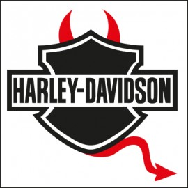 Stickers-diable-moto-Harley Davidson